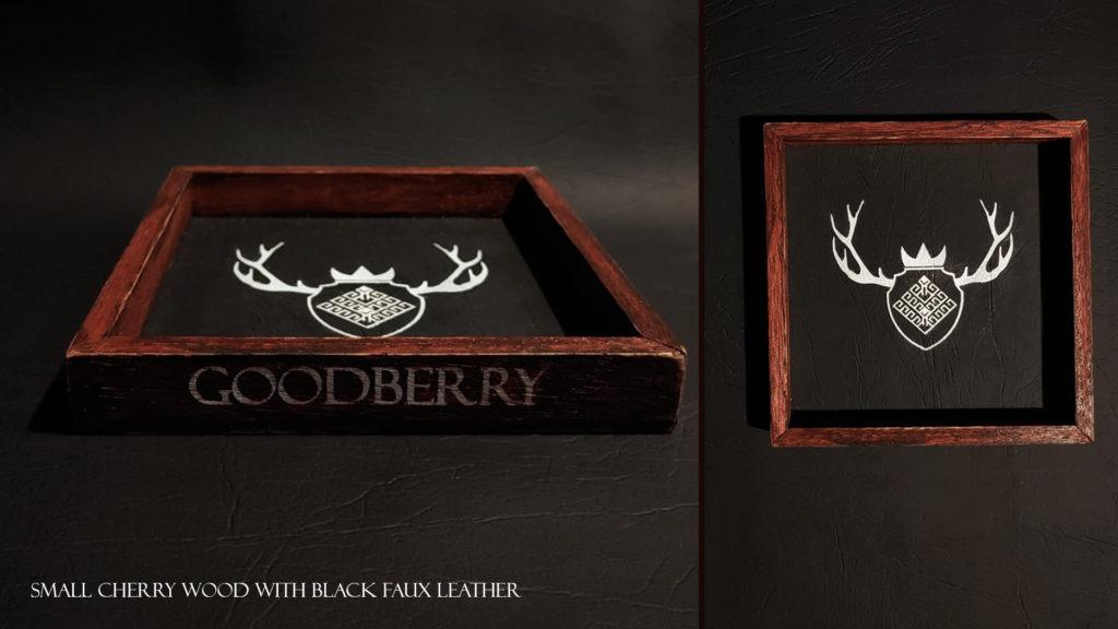 Product 4 - Small Tray 15x15 Wild Cherry Black